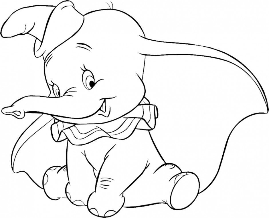 looks like Dumbo  is planing something on his mind