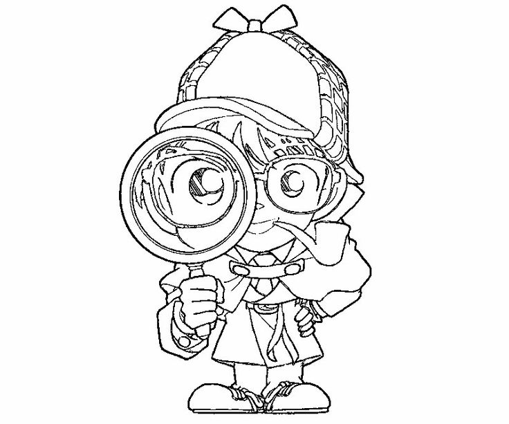Detective with his magnifying glass