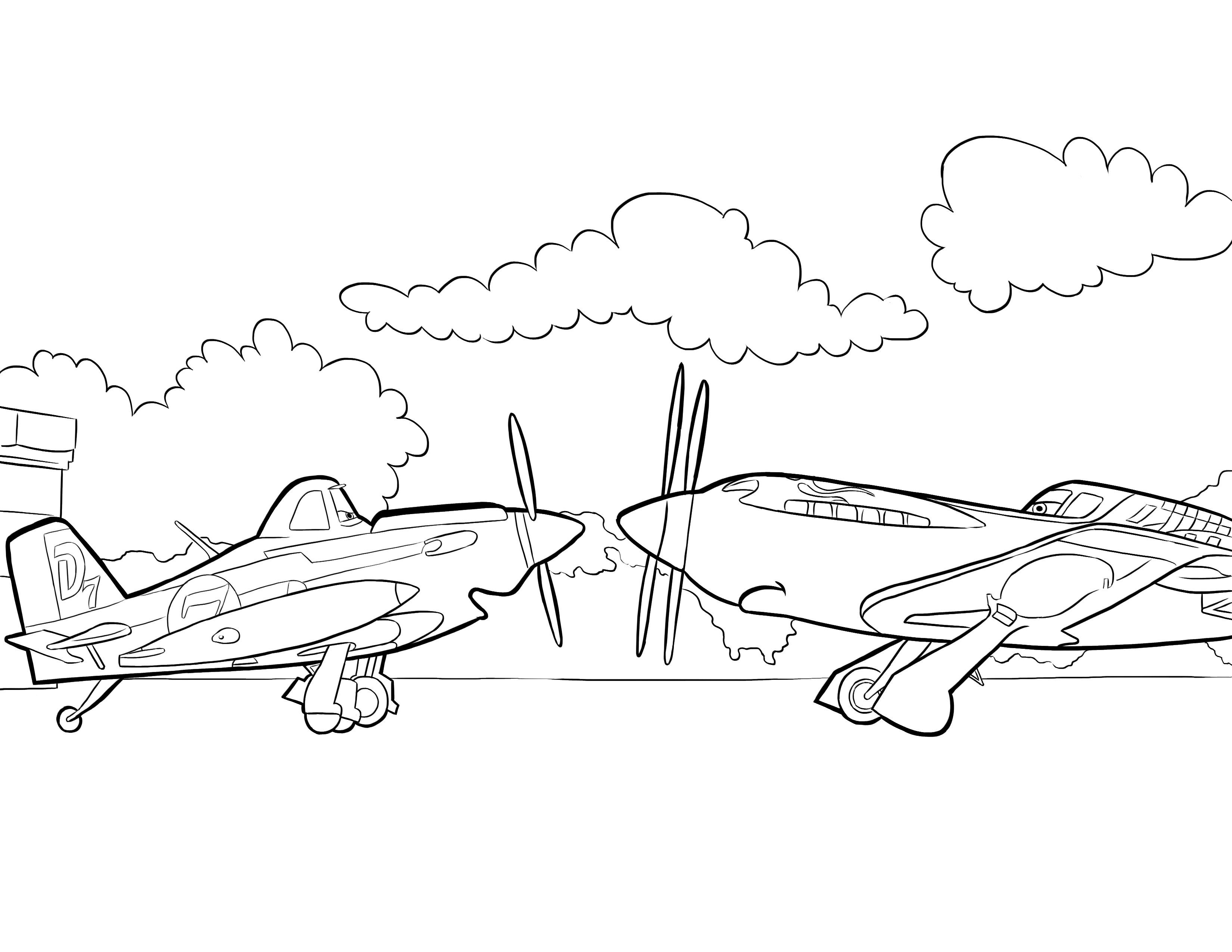 Adventures story of planes disney planes 18 disney planes for Plane coloring page