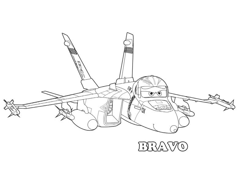 Angry Bravo coloring page