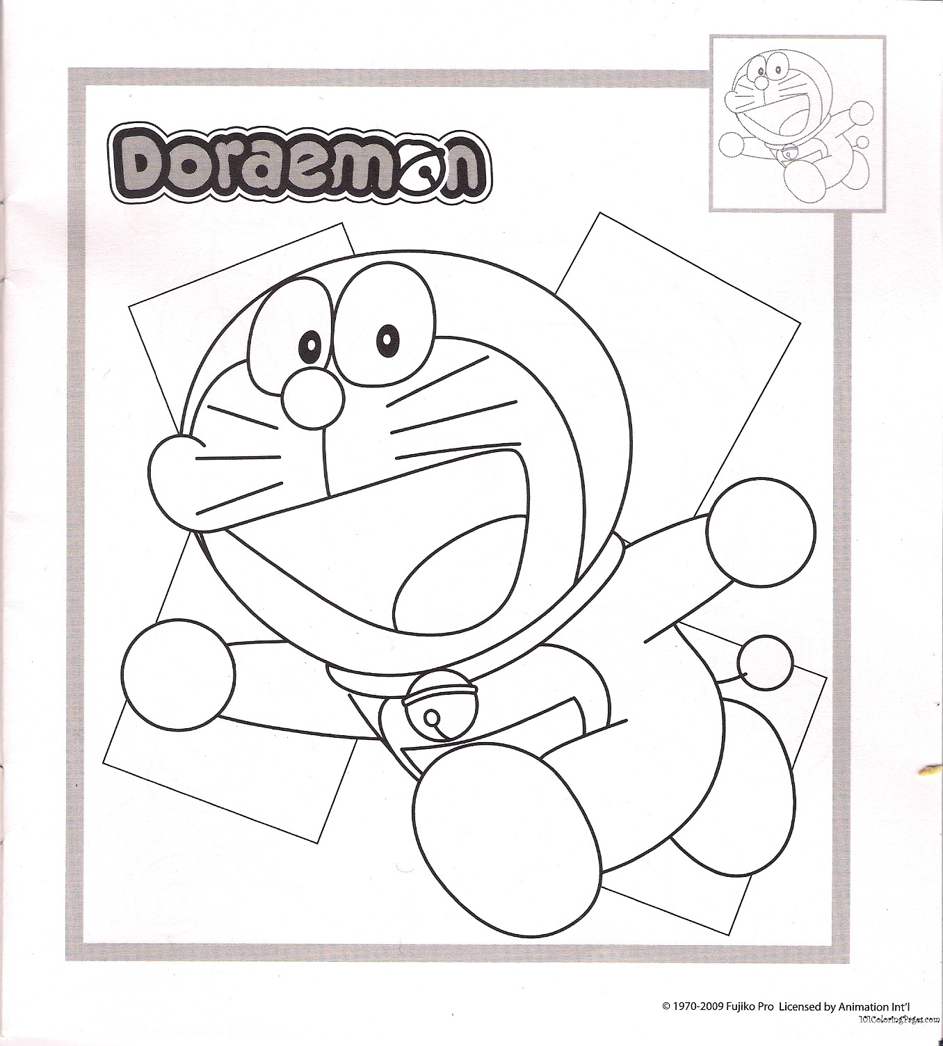 Doraemon colouring games online play - Doraemon Coloring Page For Kids While Doraemon In Hurry