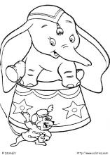 all adorned Dumbo witth his mouse friend coloring pages