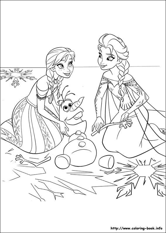 Anna & Elsa playing with Olaf