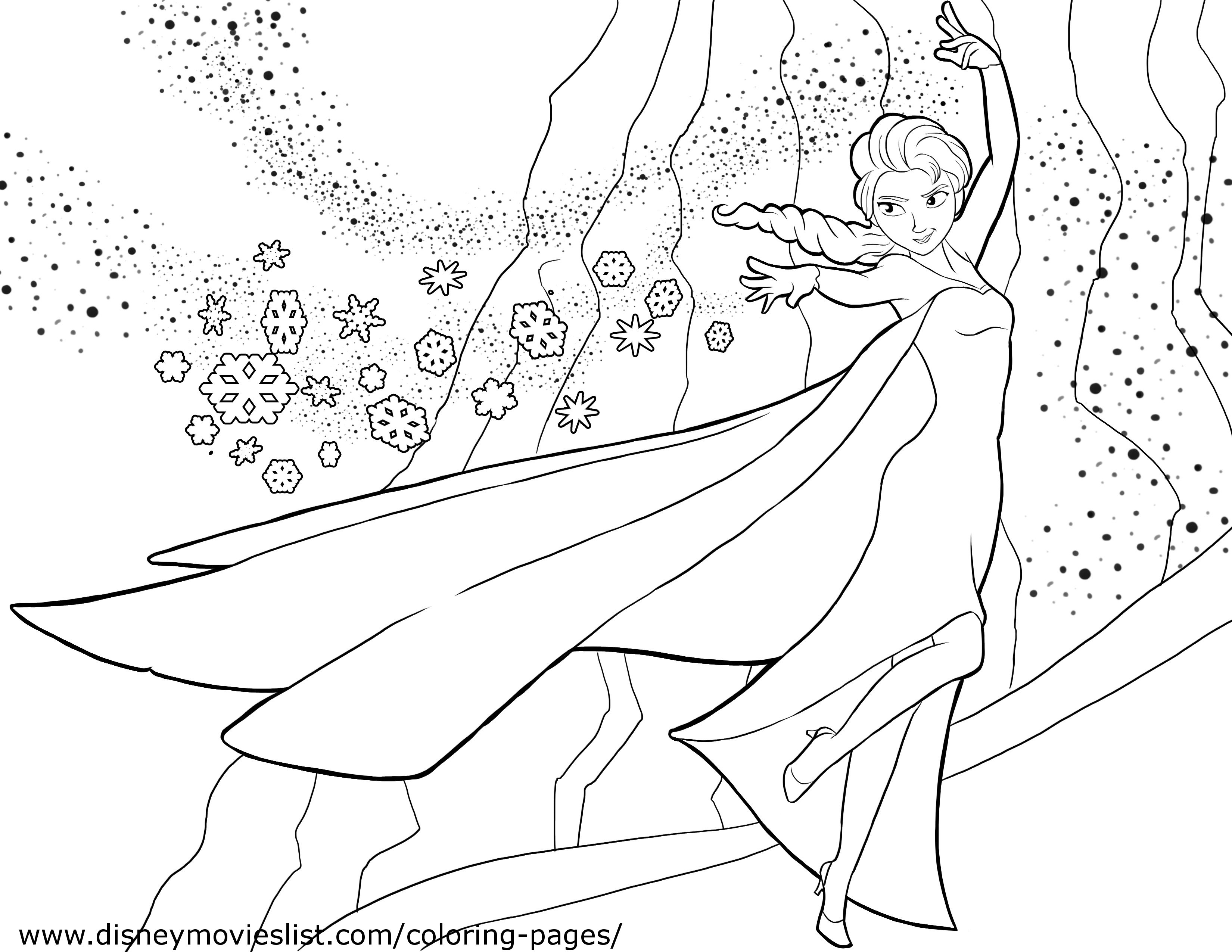 Elsa using Power coloring page