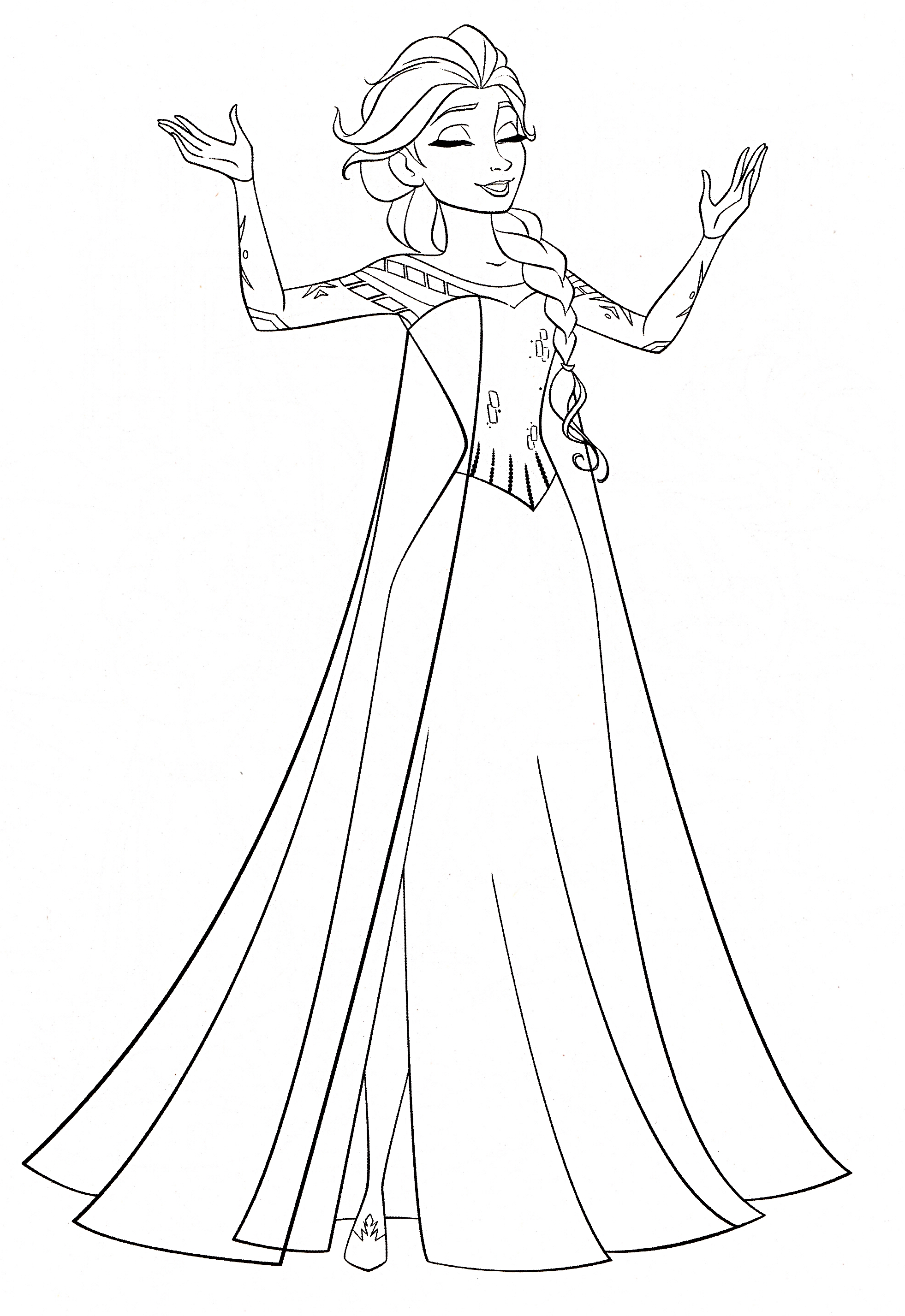 Elsa printable coloring page
