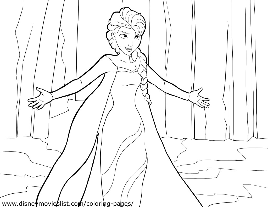 Powerful Elsa coloring page