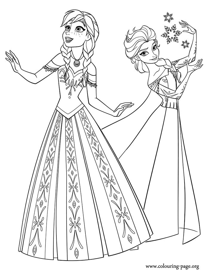 Queen Elsa with perky Anna