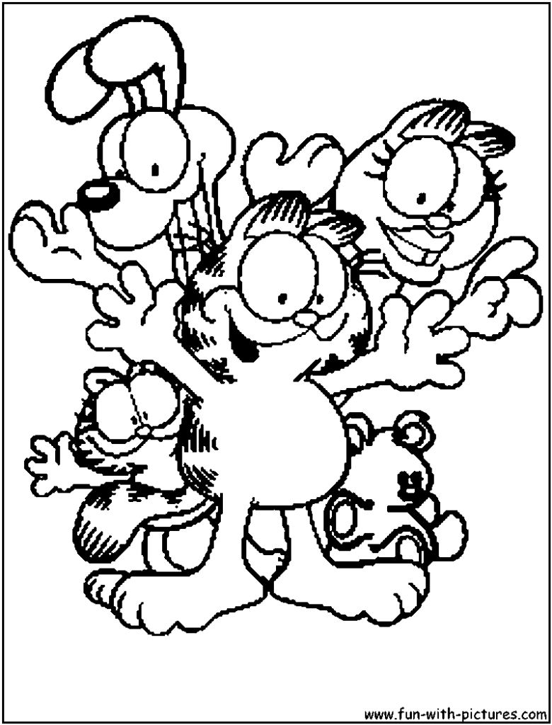 Garfield coloring pages copy avery free printables for Garfield coloring page
