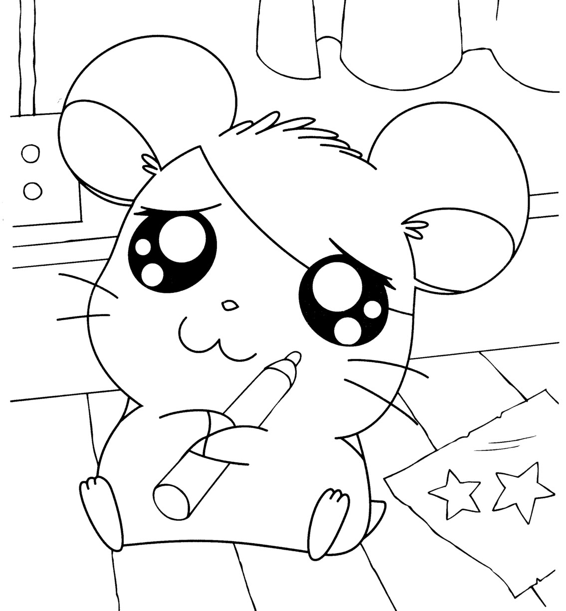 Uncategorized Hamtaro Coloring Pages hamtaro coloring pages by lily free printables lily