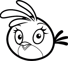 Angry Bird printable coloring page