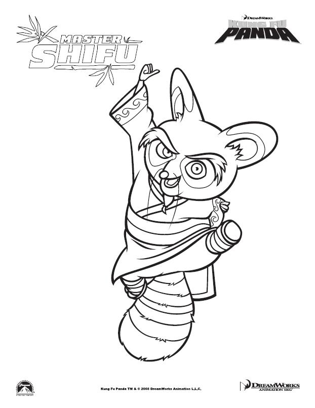master Shifu printable coloring page