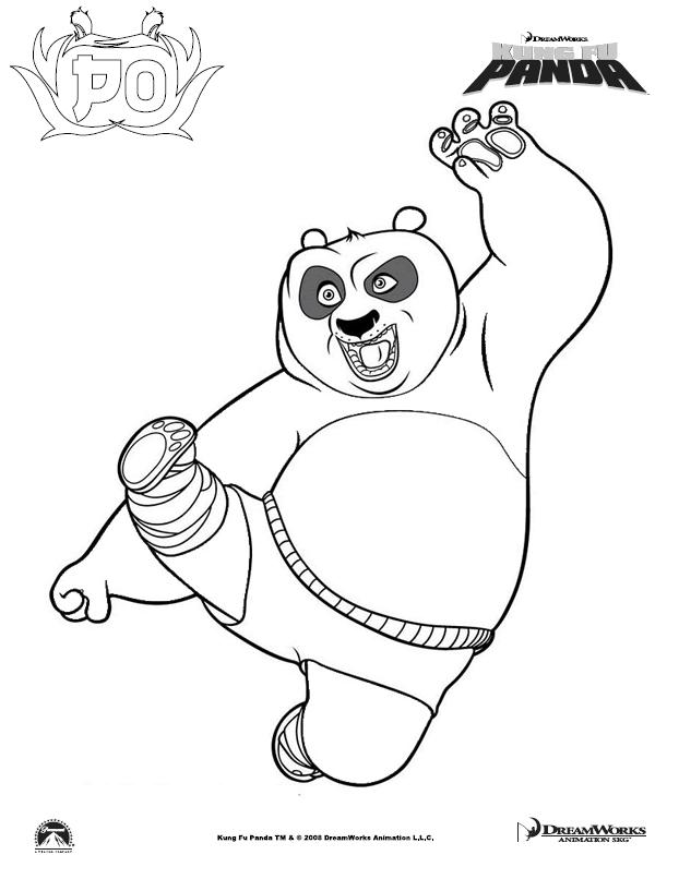 Po printable coloring page