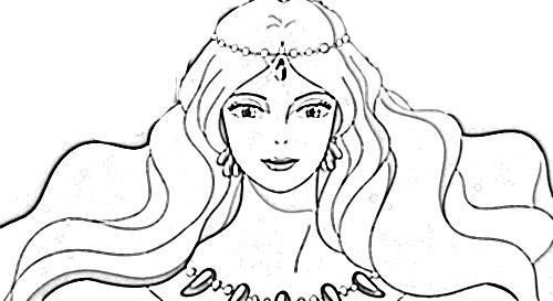 beautiful Granmamare coloring page