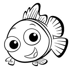 smiling Coral coloring page