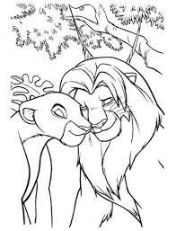 Mufasa with Kiara coloring page