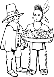 traditionalism of Thanksgiving day coloring page