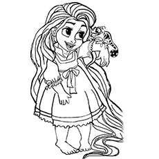 toddler Rapunzel coloring pages