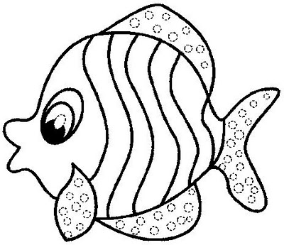 Fish with polka dots coloring page