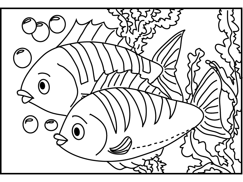 fish coloring pages for kids - photo#14