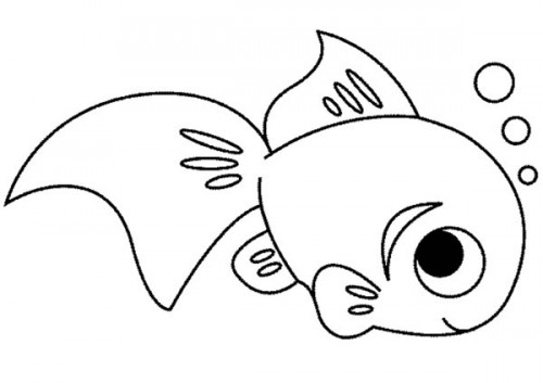 Single fish coloring page