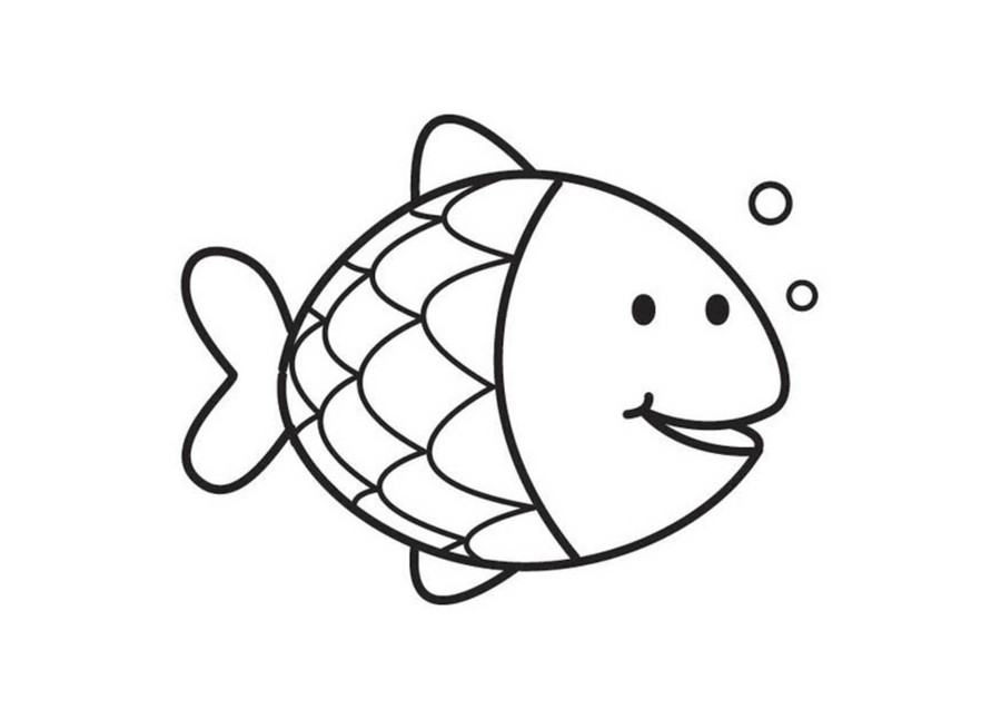 do you wanna blow some bubbles - Fish Coloring Pages