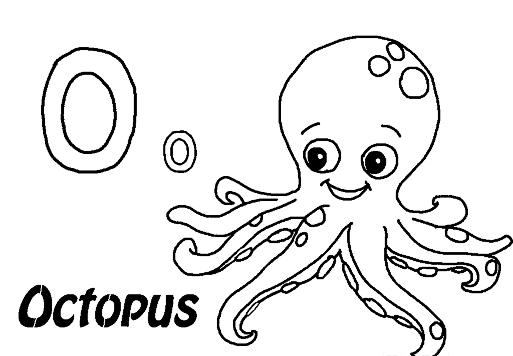 29 fish and octopus coloring pages for kids free printables for Octopus drawing easy
