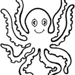 Octopus tentacles coloring page