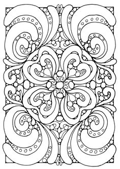 difficult Abstract painting coloring page