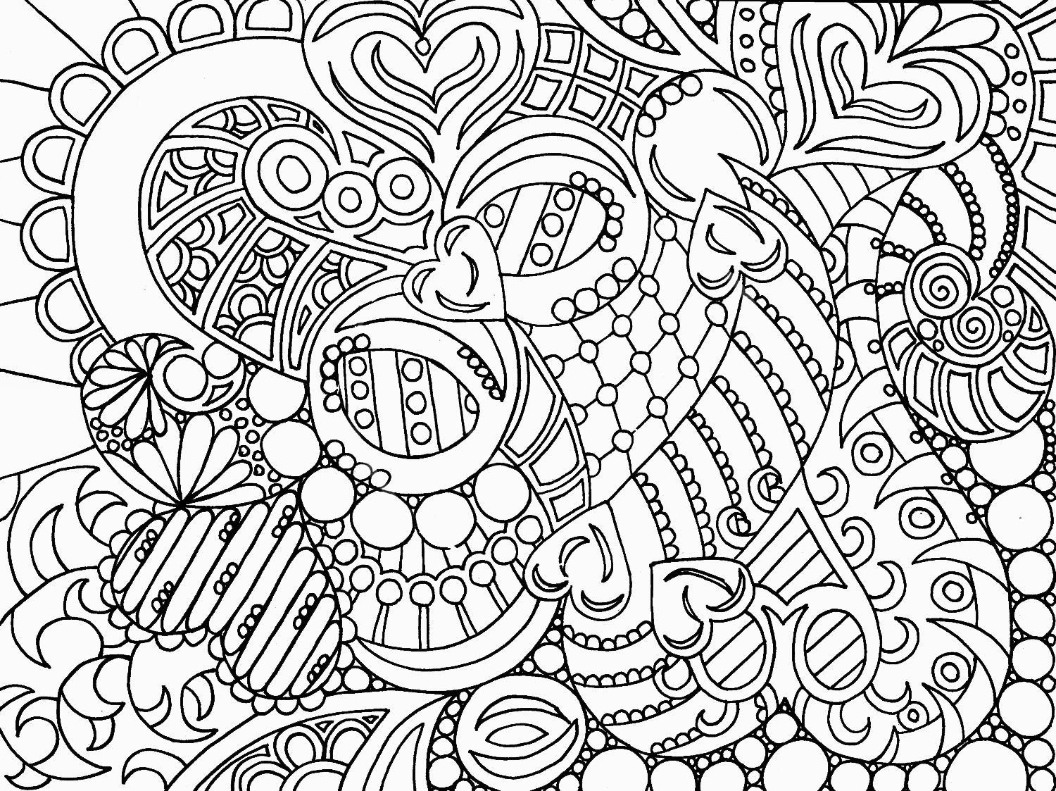 Abstract painting coloring page