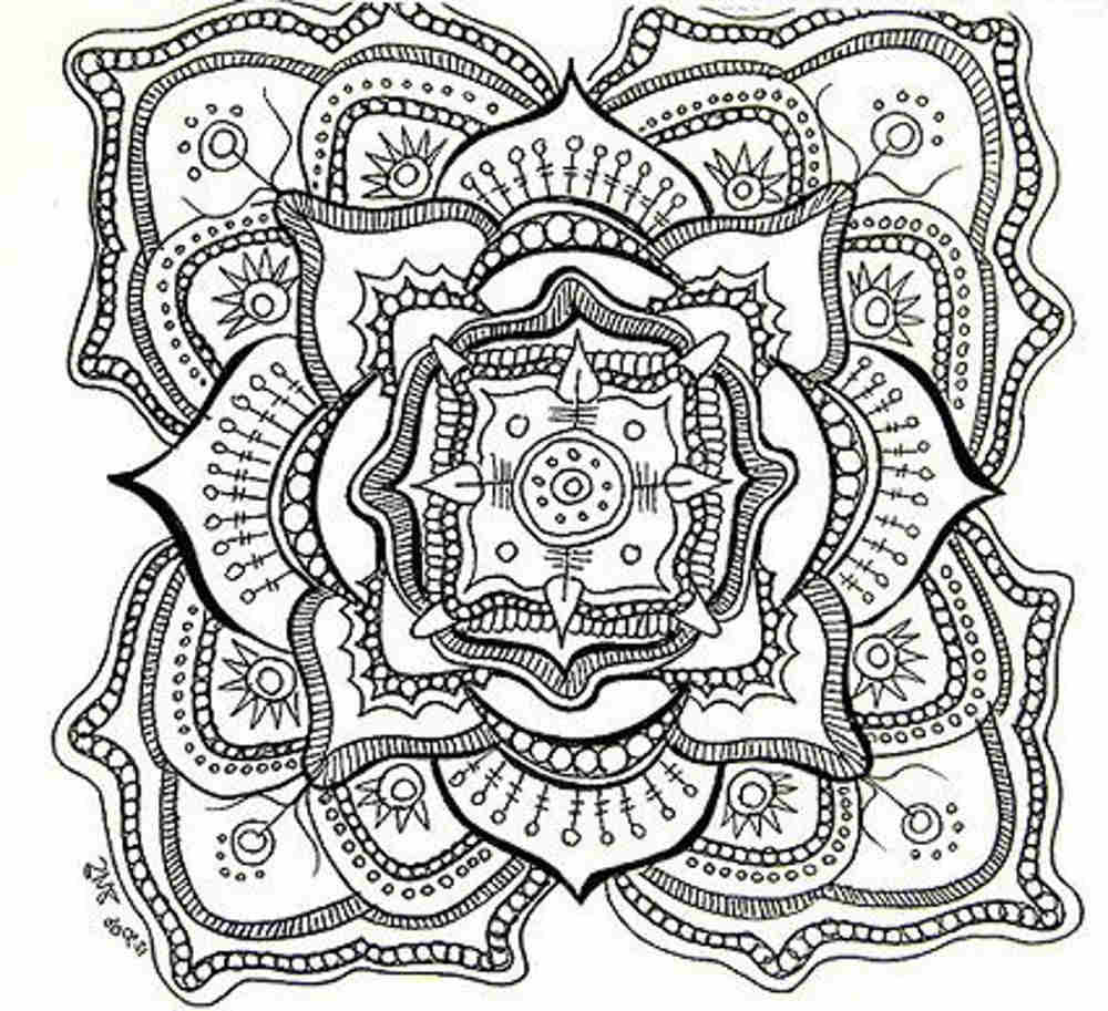 excellent Abstract image coloring page