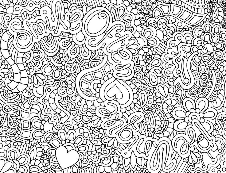 Abstract image coloring page