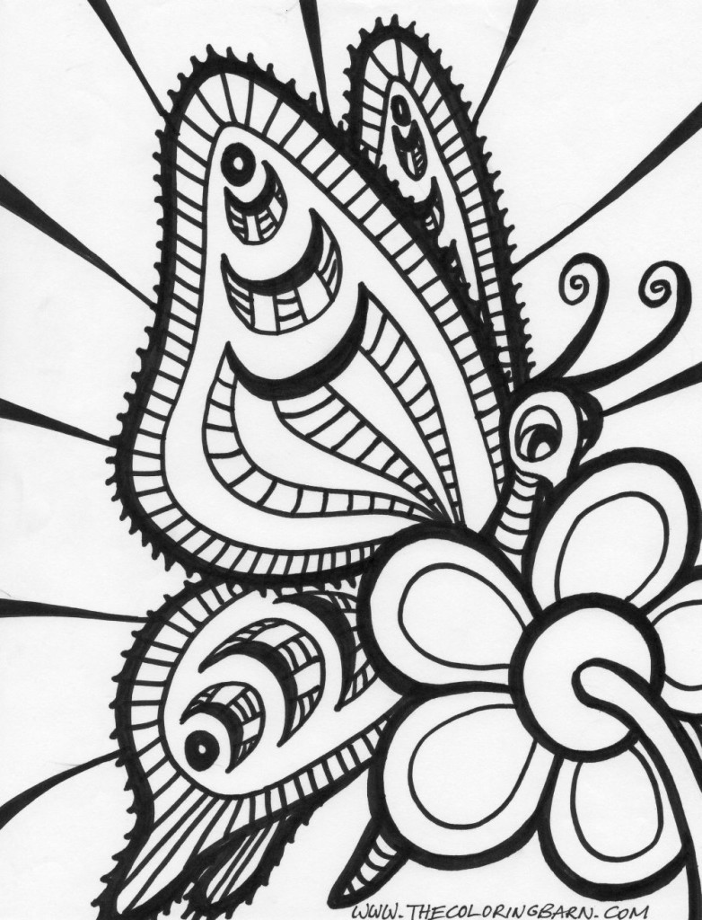 pretty Abstract coloring page
