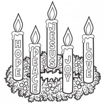 Advent coloring page