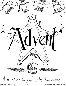 Advent festival coloring page