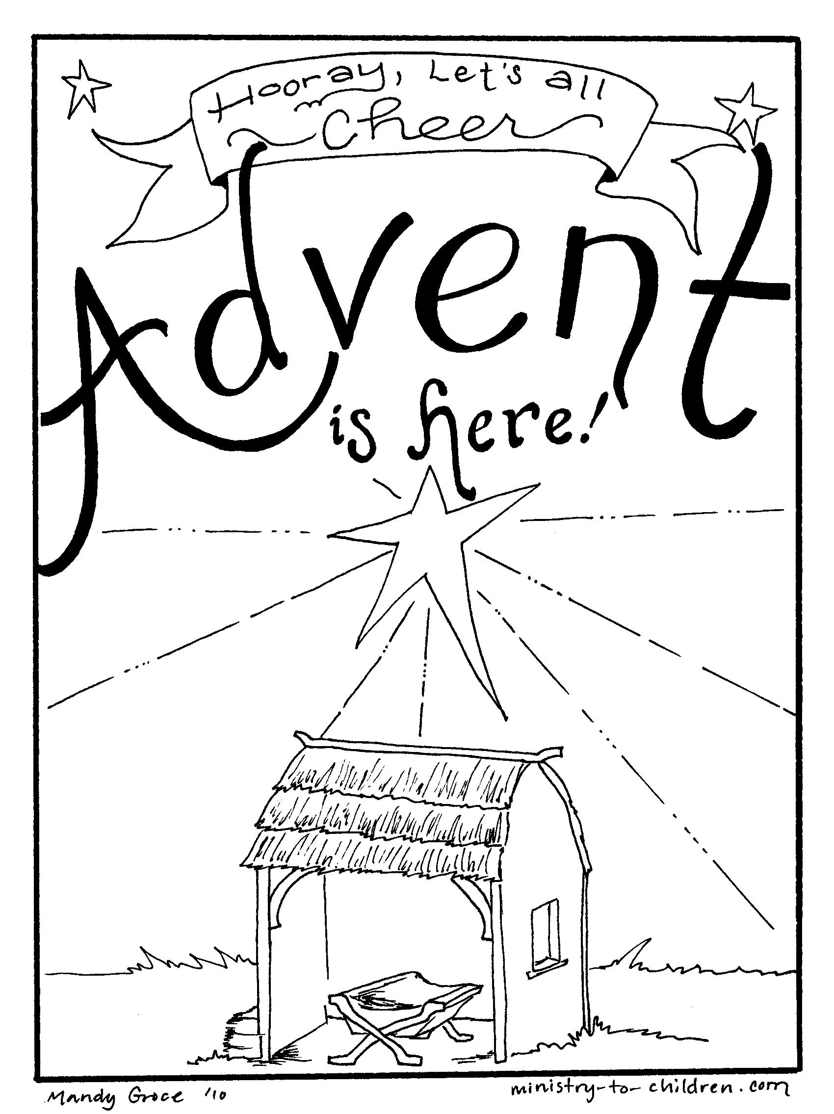 Experience the verve of violet during advent 18 advent for Children s advent coloring pages
