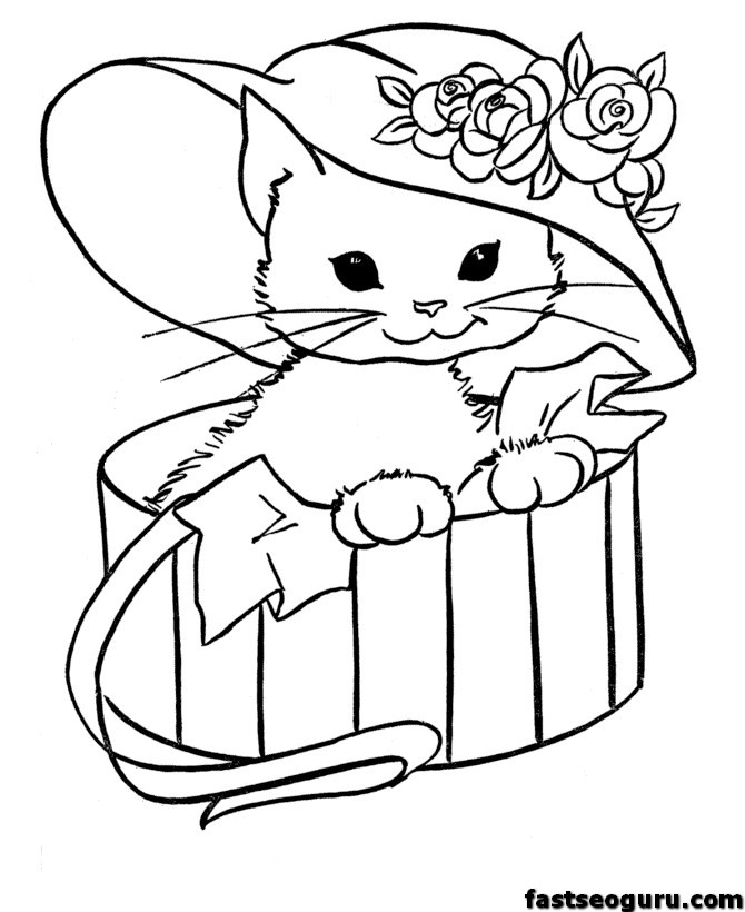 cute Cat printable page