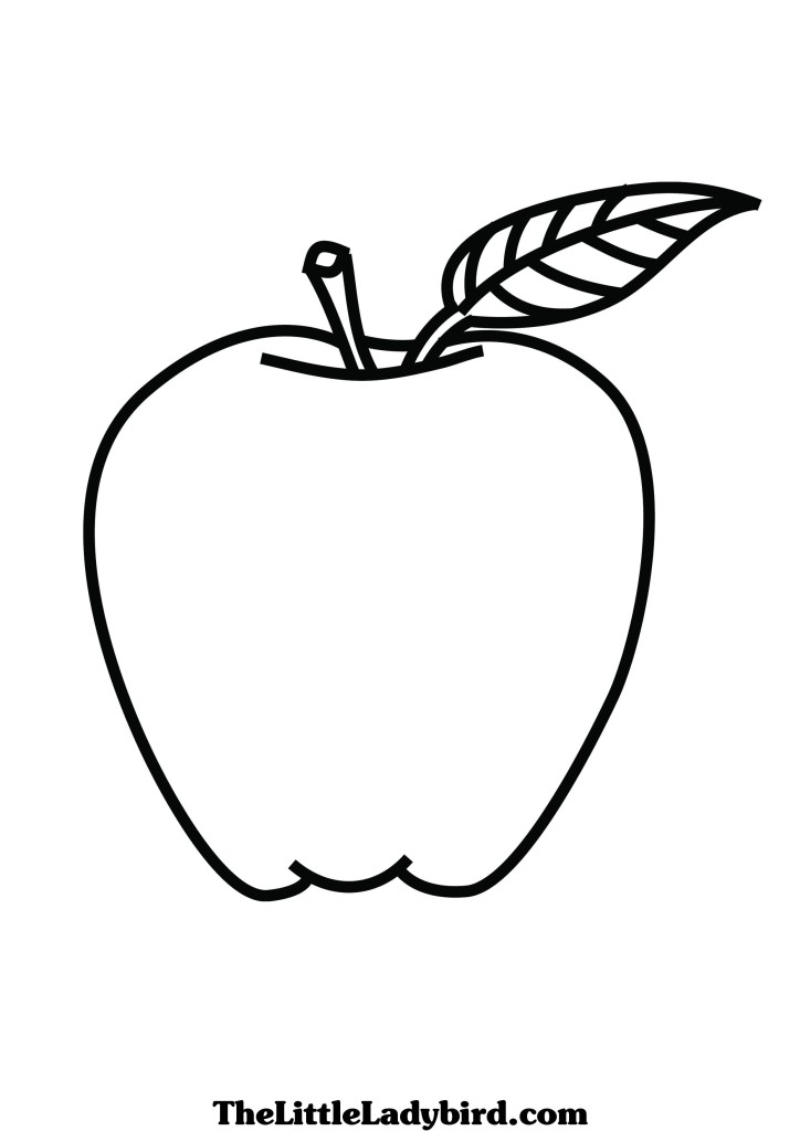 a apple coloring pages - photo #26