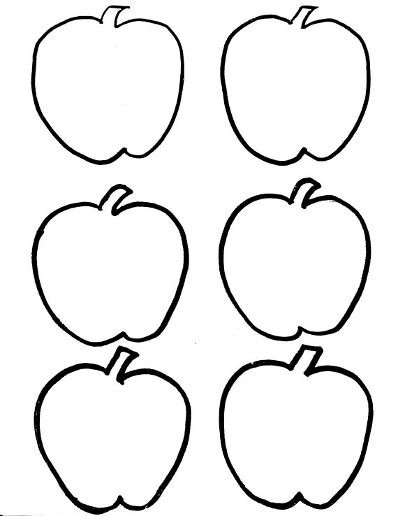 Apple coloring page | Free Printable Coloring Pages | 738x570