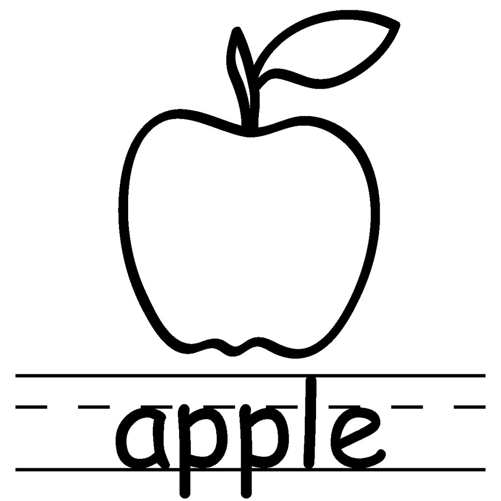 Apple colorign page