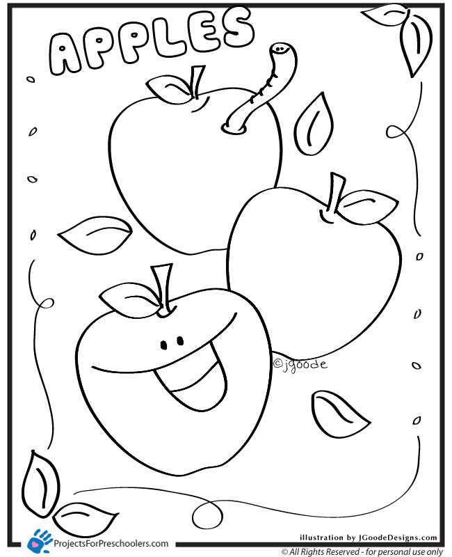 Discover the great shade of Apple 20 Apple coloring pages ...