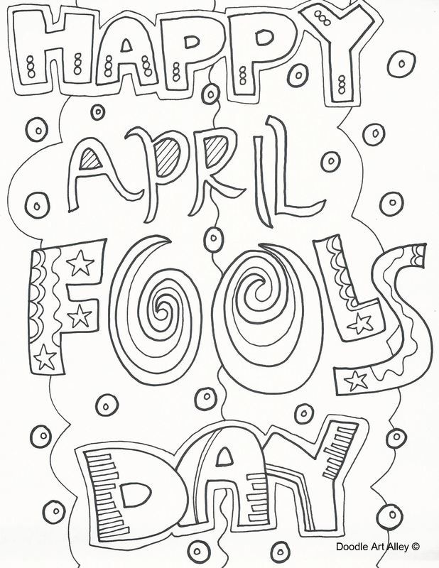 April fool coloring page