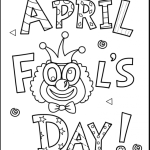 Feel the hoaxes of  fool's day April fool 18 April fool coloring pages
