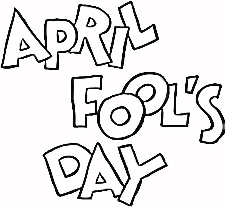 April fool printable page for kids