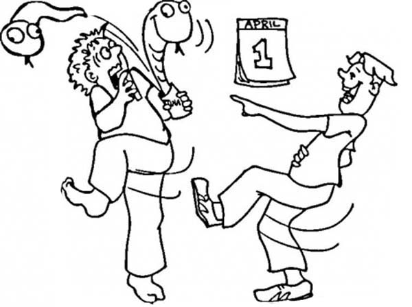 hilarious April fool day coloring page