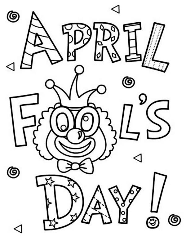 humorous April fool day coloring page