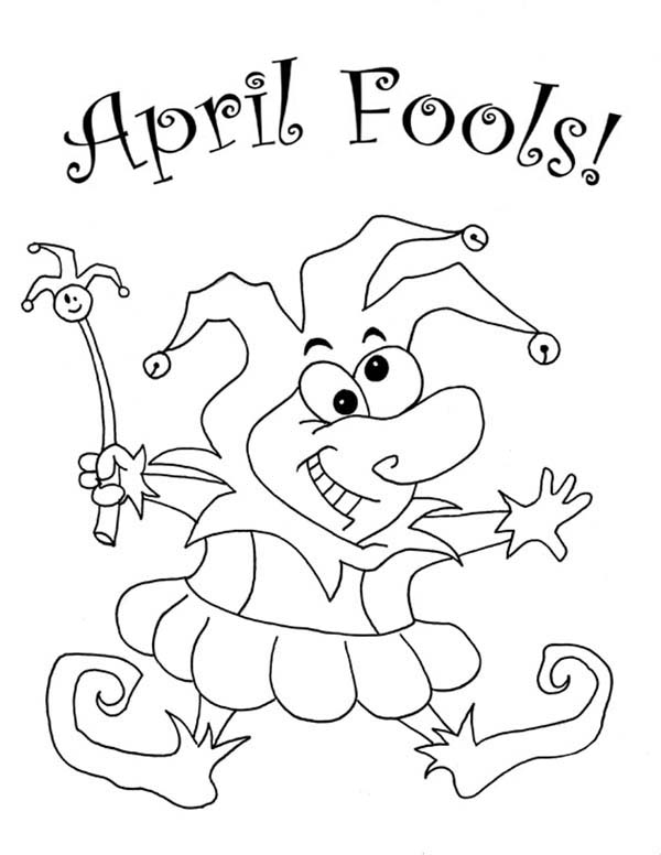 fools' day April fool coloring page