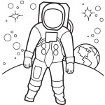 Reveal the mystery of the sky with Astronaut 20 Astronaut  coloring pages