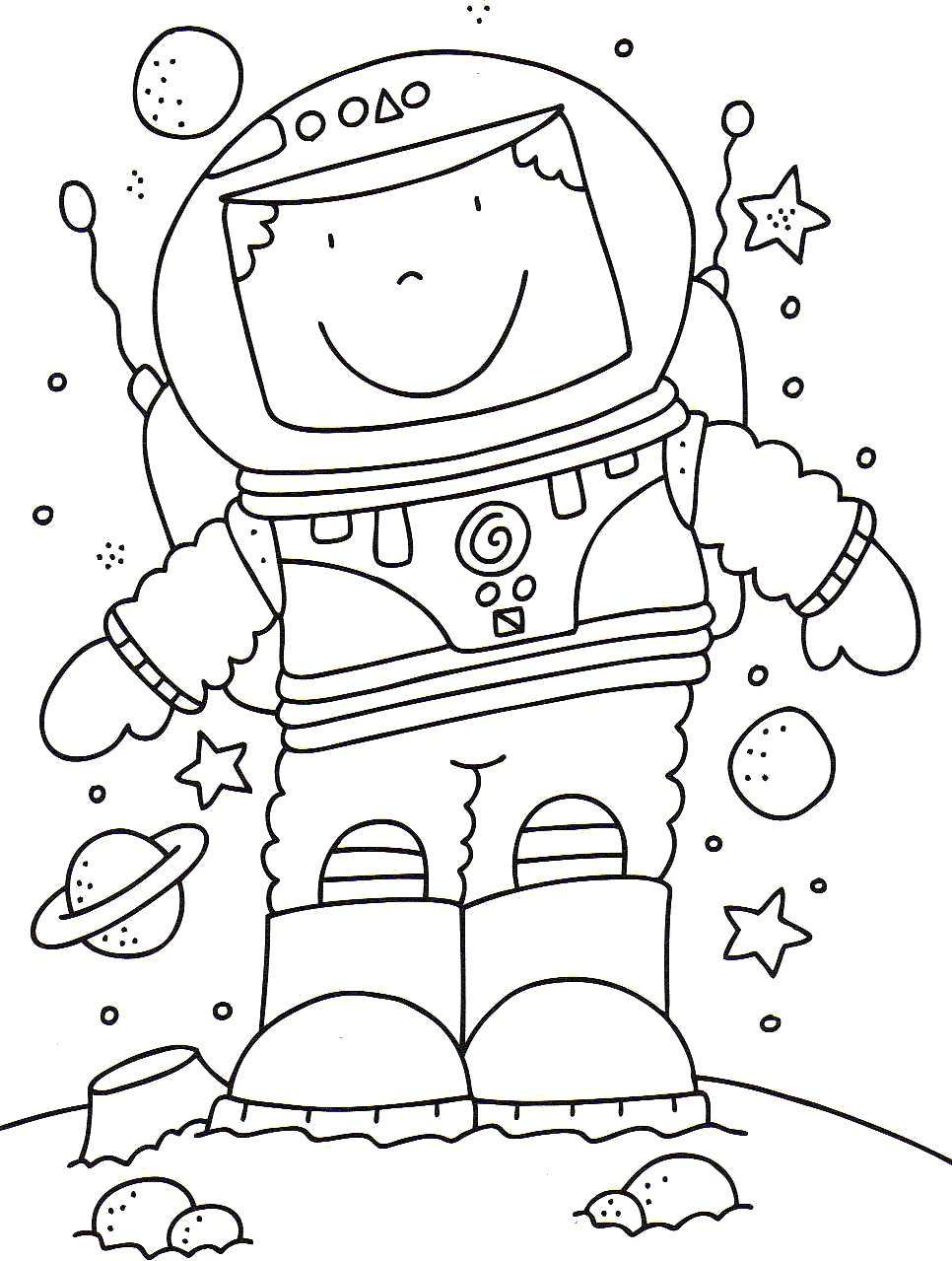 Astronaut Coloring Pages By Aaliyah Free Printables