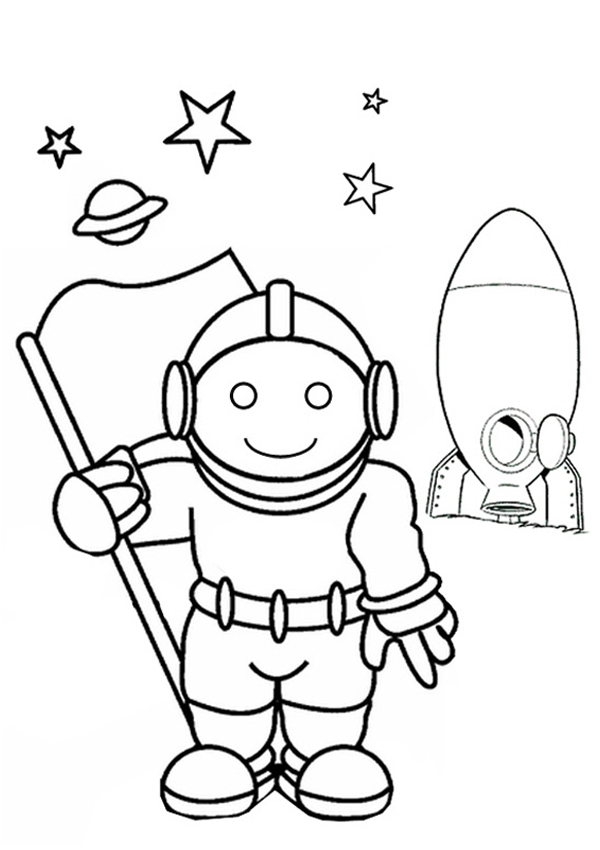 Astronaut Coloring Pages By Henry