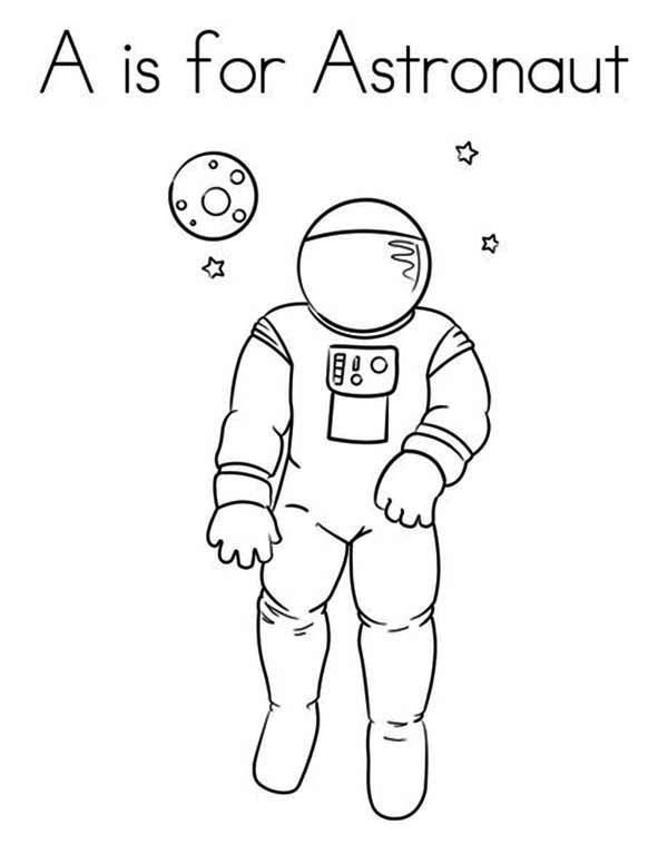 Astronaut image coloring page